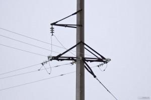 Elettrico palo con legare